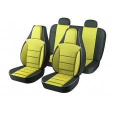 Авточехлы Пилот Lanos жёлтые (на 4 сиденья)