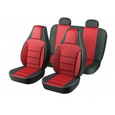 Авточехлы Пилот Lanos красные(на 4 сиденья)