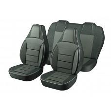 Авточехлы Пилот Lanos Sens темно-серый_100% (на 4 сиденья)