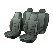 Авточехлы Пилот Lanos тёмно-серые (на 4 сиденья) 100%