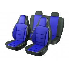 Авточехлы Пилот Lanos синие (на 4 сиденья)