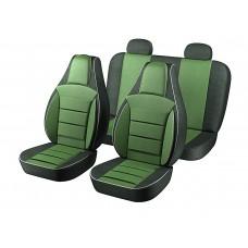 Авточехлы Пилот Lanos зелёные (на 4 сиденья)
